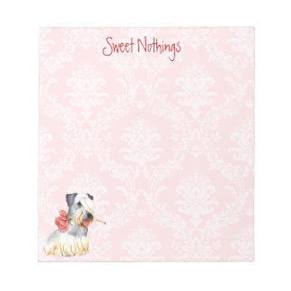 Valentine Rose Cesky Terrier Notepad