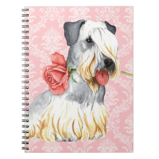 Valentine Rose Cesky Terrier Spiral Notebook