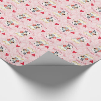 Valentine Rose Cesky Terrier Wrapping Paper