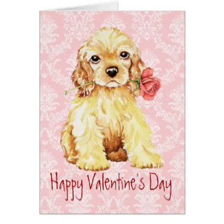Valentine Rose Cocker Card