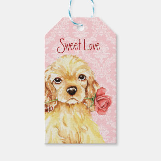 Valentine Rose Cocker Spaniel Pack Of Gift Tags