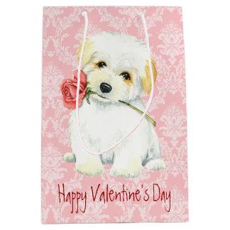 Valentine Rose Collie Medium Gift Bag