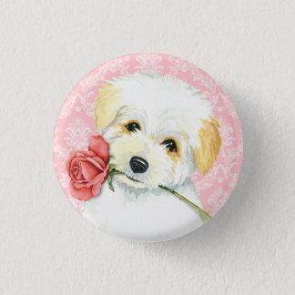 Valentine Rose Coton 1 Inch Round Button