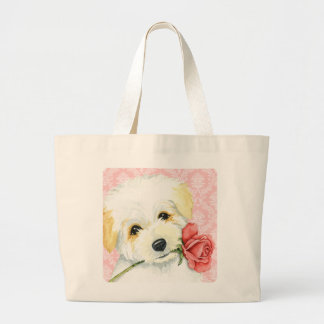 Valentine Rose Coton Large Tote Bag