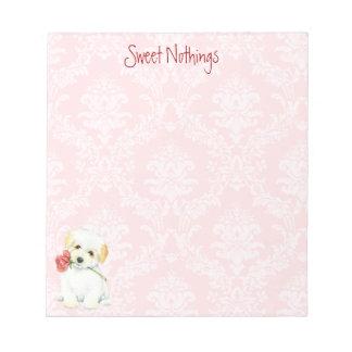 Valentine Rose Coton Notepad