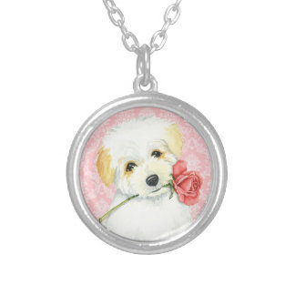 Valentine Rose Coton Silver Plated Necklace