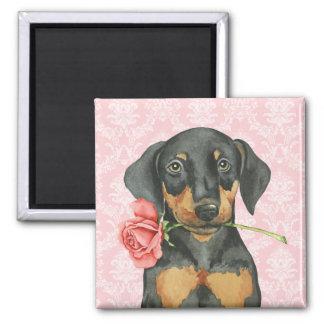 Valentine Rose Doberman Magnet