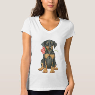 Valentine Rose Doberman T-Shirt