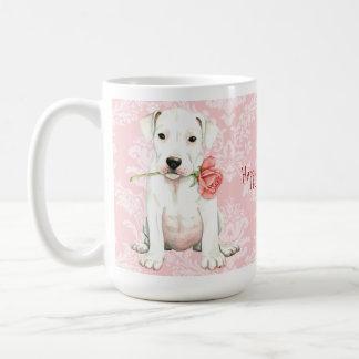 Valentine Rose Dogo Coffee Mug