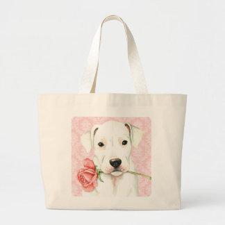 Valentine Rose Dogo Large Tote Bag