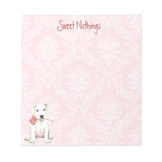 Valentine Rose Dogo Notepad