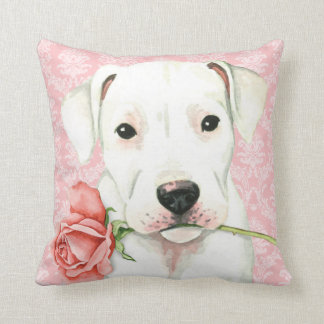 Valentine Rose Dogo Throw Pillow