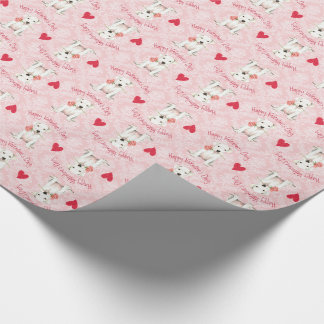 Valentine Rose Dogo Wrapping Paper