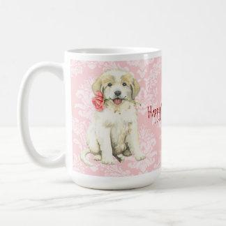 Valentine Rose Great Pyrenees Coffee Mug