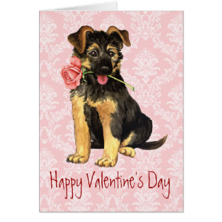Valentine Rose GSD Card