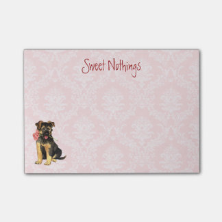 Valentine Rose GSD Post-it Notes