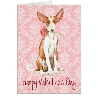 Valentine Rose Ibizan Hound Card