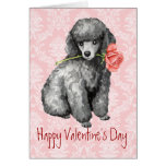 Valentine Rose Miniature Poodle Greeting Card