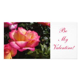 Valentine Rose Photo Greeting Card