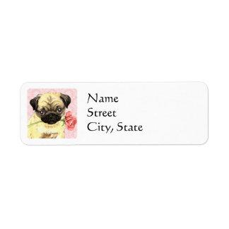 Valentine Rose Pug