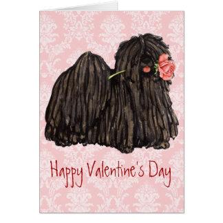 Valentine Rose Puli Card