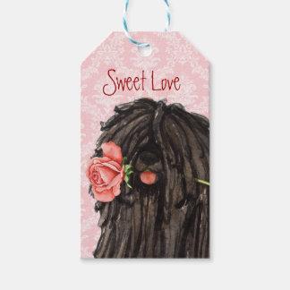 Valentine Rose Puli Gift Tags