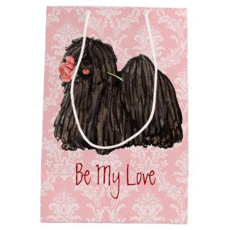 Valentine Rose Puli Medium Gift Bag