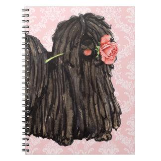 Valentine Rose Puli Notebook