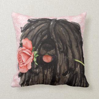 Valentine Rose Puli Throw Pillow