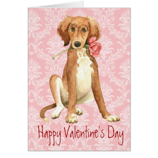 Valentine Rose Saluki Card