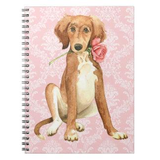 Valentine Rose Saluki Notebooks