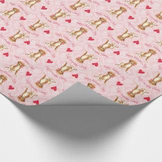 Valentine Rose Saluki Wrapping Paper