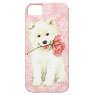 Valentine Rose Samoyed iPhone 5 Cases