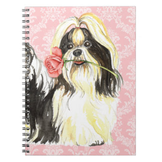 Valentine Rose Shih Tzu Notebook
