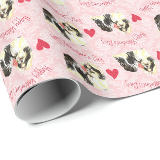 Valentine Rose Shih Tzu Wrapping Paper