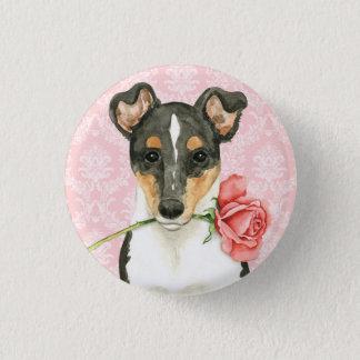Valentine Rose Smooth Collie 1 Inch Round Button