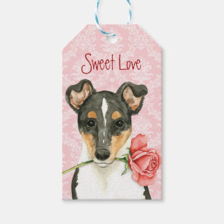 Valentine Rose Smooth Collie Gift Tags