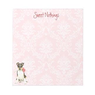 Valentine Rose Smooth Collie Notepad