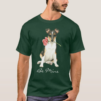 Valentine Rose Smooth Collie T-Shirt