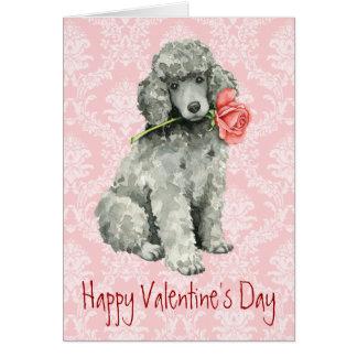 Valentine Rose Standard Poodle Card