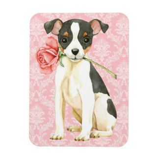 Valentine Rose Toy Fox Terrier Magnet