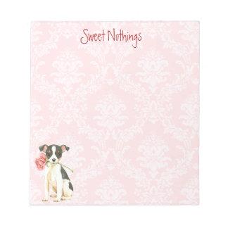 Valentine Rose Toy Fox Terrier Notepad