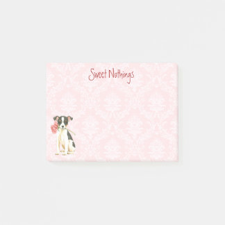 Valentine Rose Toy Fox Terrier Post-it Notes