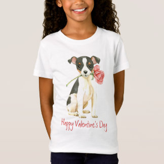 Valentine Rose Toy Fox Terrier T-Shirt