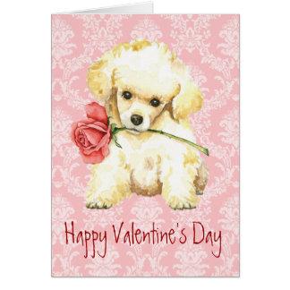 Valentine Rose Toy Poodle Card
