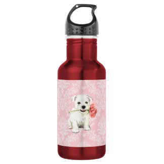 Valentine Rose Westie 532 Ml Water Bottle