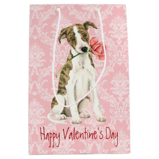 Valentine Rose Whippet Medium Gift Bag