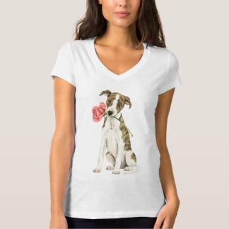 Valentine Rose Whippet T-Shirt
