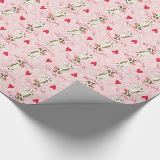 Valentine Rose Whippet Wrapping Paper