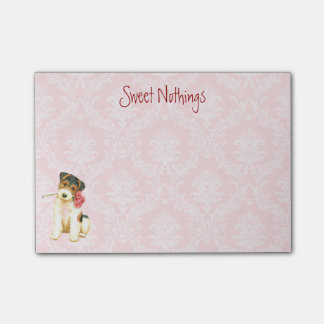 Valentine Rose Wire Fox Terrier Post-it® Notes